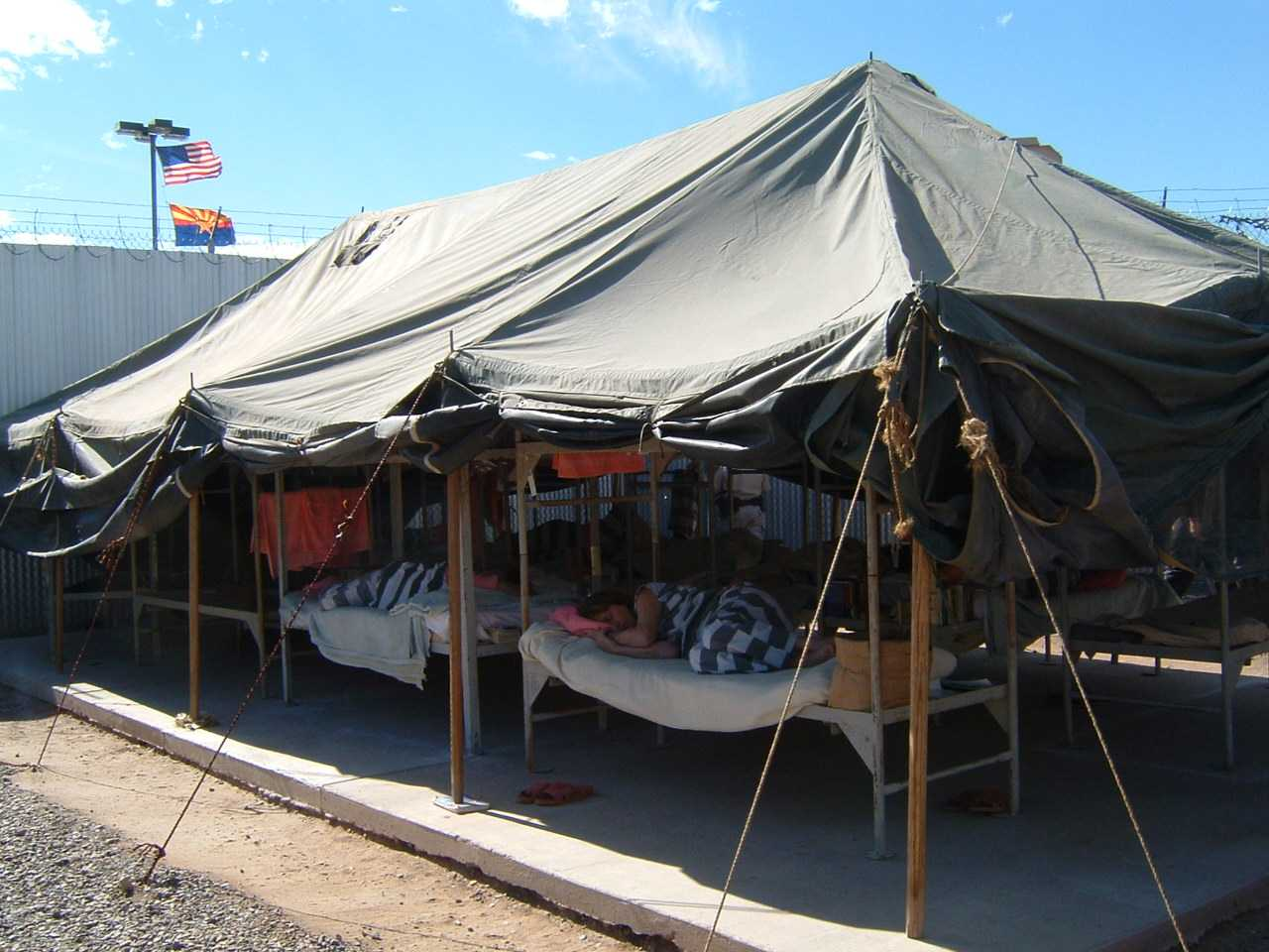 In Arizona prisoners live in a tent city and are forced to do hard labor. & In Arizona prisoners live in a tent city and are forced to do ...